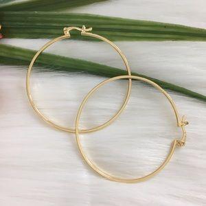 - Plane Round Hoop Earrings In 18K Gold Fill…